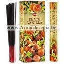 Hem Peach-Vanilla Incense Sticks