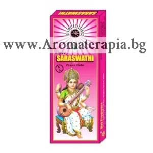 Фън Шуй Ароматни Пръчици - Сарасвати - Богинята на Изкуствата (Saraswati: Goddess of Knowledge & Arts) Raj Fragrance