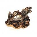 Фън Шуй Драконо-костенурка (Керамика, Малка) Цвят Бронз