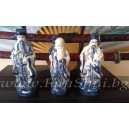 Фън Шуй Тримата Звездни Мъдреци (Порцелан , Ръчно Рисувани) - Малки