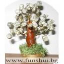 Фън Шуй Дърво на Равновесието (Бял Ахат)