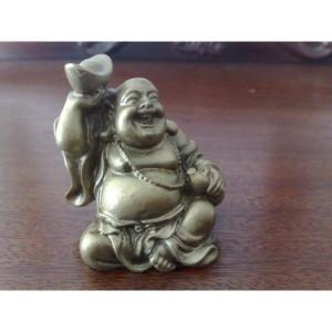 Фън Шуй Хотей със Златното кюлче и Тиквата-кратунка (Ху-Лу)