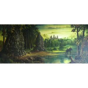 Фън Шуй картина - Дворец Ангкор Ват