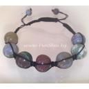 Feng Shui Moon Stone Crystal Shamballa Bracelet