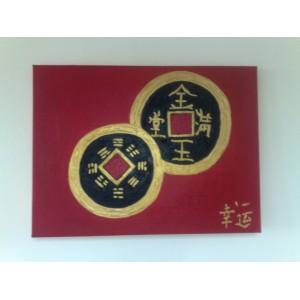 Фън Шуй Картина - Китайски Монети за Богатство (Абстракция)