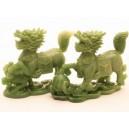 Фън Шуй Божества - Чи Лин (Драконови коне) Нефрит